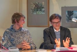 11. Mai 2019 | Buchmessenachlese mit Andreas Rötzer (Verleger) und Meike Rötzer (Lektorin, Schauspielerin), Verlag Matthes & Seitz Berlin | Fotografien Heinz-Peter Bolle-Bovier